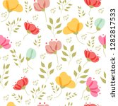 vector floral pattern in doodle ... | Shutterstock .eps vector #1282817533