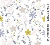 vector floral pattern in doodle ... | Shutterstock .eps vector #1282817536