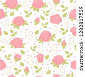 vector floral pattern in doodle ... | Shutterstock .eps vector #1282817539