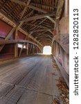 Inside A Covered  Bridge Of...