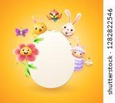 easter card template   easter... | Shutterstock .eps vector #1282822546