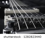 view of the black guitar from... | Shutterstock . vector #1282823440