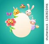 easter card template   easter... | Shutterstock .eps vector #1282823446