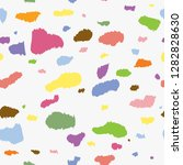 colorful dalmatian print... | Shutterstock .eps vector #1282828630