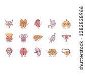smiling human internal organs... | Shutterstock .eps vector #1282828966