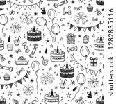 birthday party seamless pattern ... | Shutterstock .eps vector #1282835116