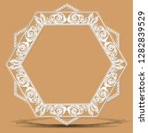 carved vintage frame made of... | Shutterstock .eps vector #1282839529
