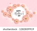 best mom   mum ever pink... | Shutterstock .eps vector #1282839919