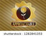 golden emblem or badge with... | Shutterstock .eps vector #1282841353