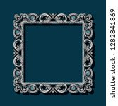 frame silver color with shadow... | Shutterstock .eps vector #1282841869