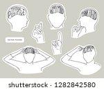 vector stickers design set.... | Shutterstock .eps vector #1282842580