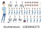 young man character collection. ... | Shutterstock .eps vector #1282846273