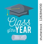 graduation class celebration... | Shutterstock .eps vector #1282846930