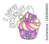 trendy colorful art cake.... | Shutterstock .eps vector #1282848643
