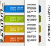 vector web template    4 steps  ... | Shutterstock .eps vector #128284934