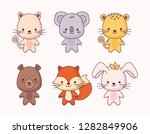 group of cute animals | Shutterstock .eps vector #1282849906