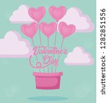 valentines day card with... | Shutterstock .eps vector #1282851556