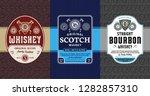 alcoholic drinks vintage labels ... | Shutterstock .eps vector #1282857310