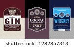 alcoholic drinks vintage labels ... | Shutterstock .eps vector #1282857313
