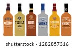 alcoholic drinks labels and... | Shutterstock .eps vector #1282857316