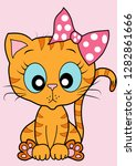cute kitty vector | Shutterstock .eps vector #1282861666