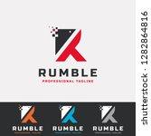 r letter digital logo | Shutterstock .eps vector #1282864816