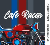 motorcycle cafe race...   Shutterstock .eps vector #1282868860
