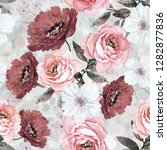 seamless pattern with flowers... | Shutterstock . vector #1282877836