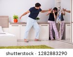 concept of skeleton in the...   Shutterstock . vector #1282883290