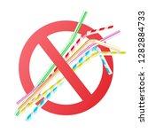 Vector No To Plastic Straws...