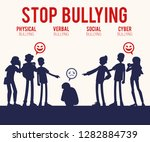 vector concept of bullying and... | Shutterstock .eps vector #1282884739