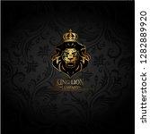 vector emblem with golden... | Shutterstock .eps vector #1282889920