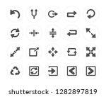 20 left curve arrow  split...   Shutterstock .eps vector #1282897819