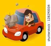 need of car insurance. vector... | Shutterstock .eps vector #128290034