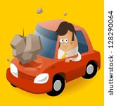 having car insurance. vector... | Shutterstock .eps vector #128290064