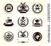 bread labels set. vector   Shutterstock .eps vector #1282905250