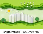 paper art   cut and craft style ... | Shutterstock .eps vector #1282906789