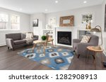 beautiful furnished living room ... | Shutterstock . vector #1282908913