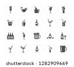 20 champagne  cocktail  wine ... | Shutterstock .eps vector #1282909669