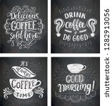 set of coffee quotes on the... | Shutterstock .eps vector #1282913056
