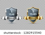 glass shields with golden and... | Shutterstock .eps vector #1282915540