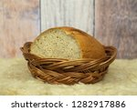 cut loaf of bread in the old... | Shutterstock . vector #1282917886