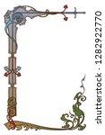 medieval manuscript style... | Shutterstock .eps vector #1282922770