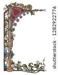 medieval manuscript style... | Shutterstock .eps vector #1282922776