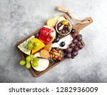 selection of cheese and... | Shutterstock . vector #1282936009