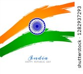 beautiful indian flag theme...   Shutterstock .eps vector #1282937293