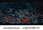 burning coal in iron brazier.... | Shutterstock . vector #1282938070