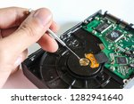 hard disk drive inside. data...   Shutterstock . vector #1282941640