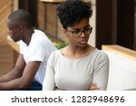 african american unhappy couple ... | Shutterstock . vector #1282948696