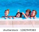 portrait of a happy family... | Shutterstock . vector #1282949383